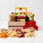 Custom Meat & Cheese Wooden Gift Crate