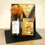 Custom Classic Chardonnay Wine & Cheeseboard Gift Set