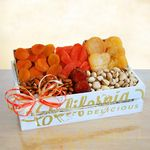 Custom Sun Dried Fruit and Nuts Gift Crate