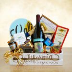 Custom Signature California Wine Country Gift Crate