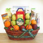Custom Sincere Sympathies Fruit Gift Basket