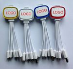 Custom 4 in 1 mobile phone Flashing USB Charging Cable