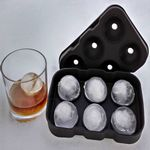 Custom Round Silicone Ice Tray 6 Ice Ball