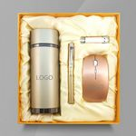 Custom Wireless Mouse , Pen, 8G usb drive and Vacuum Cup Gift Set
