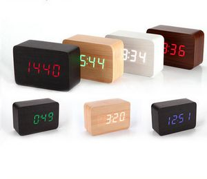 Wood Grain LED Clock