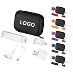 Custom Mobile Tech Travel Accessory Kit w/USB Wall Charger