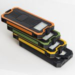 Custom Solar Power Bank with carabiner hook and light