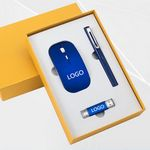 Custom Wireless Mouse , pen and 8G usb drive gift set