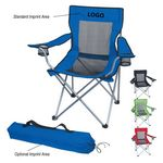 Custom Mesh Folding Chair With Carrying Bag