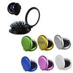 Custom Mini Folding Pocket Hair Comb w/Mirror