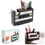 Custom Cassette Tape Dispenser W/Pen Pot