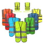 Custom Reflective Safety Vest With Reflective Strips