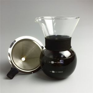 Pour Over Coffee Maker with Reusable Filter 200ML