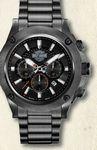 Custom Harley Davidson by Bulova Collection Men's Black Bar & Shield Chronograph Watch