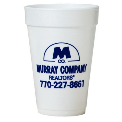 16 Oz. Tall White Styrofoam Coffee Cup