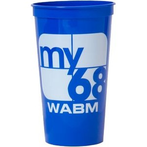32 Oz. Smooth Stadium Cup (Screen Printed)