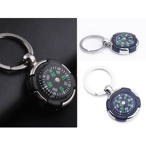 Circle Compass Key Chain