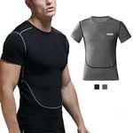 Custom Men's Dry Fit Compression Short Sleeve O-Neck Sport T-shirt