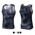 Custom Men's Athletic Compression Body Shaper Vest Sport Base Layer