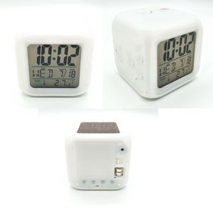 Colorful Square LED Light Clock