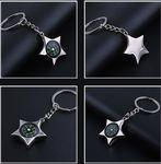 Custom Star Shaped Compass Key Chain