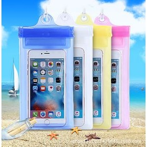 "6"" Waterproof Phone Bag with Drawstring"