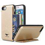 Custom Hard Phone Case with Hidden Card Case for iphone7