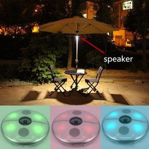 Umbrella Using Two Loudspeaker 3.0 Bluetooth Speaker W/ LED Night Light