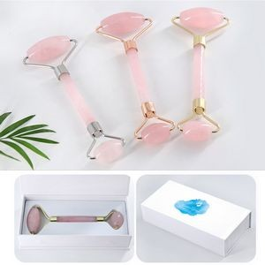 Pink Jade Roller For Face W/ Packing box