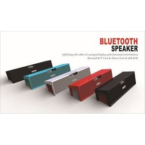 Wireless Speaker With Alarm Clock And Two Speakers