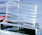 Custom Small Stars and Stripes Crystal Award