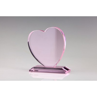 Pink Crystal Heart Award-7""