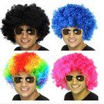Custom Party Wigs,Rainbow Fun Color Medium Curly Wigs