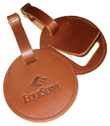 Round Leather Club Tag