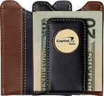 Custom Two-Tone Leather Magnetic Wallet