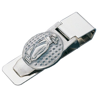 Golf Ball with Golf Bag Design Money Clip