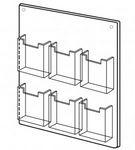 Custom 6 Pocket Wall Mount Holder (13 1/2