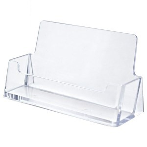 "Clear Horizontal Business Card Holder (3.5""x2""x.75"")"