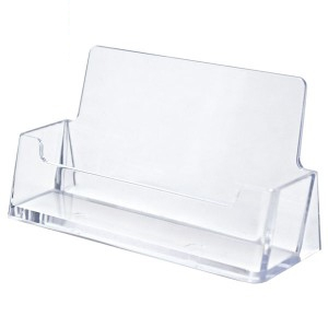Clear Horizontal Business Card Holder (3.5x2x.75)