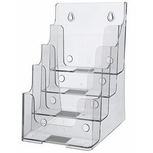 "4 Tier Large Brochure Holder (6 1/2""x10""x8"")"