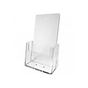 "Clear Trifold Brochure Holder (4 1/4""x7 1/4"")"