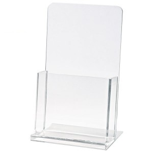 "Clear Countertop Brochure Holder (8 1/2""x11""x2"")"