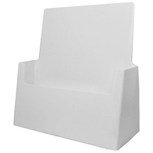 "White Letter Size Holder (Fits inserts 8.5"" x 11"")"