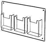 Custom 3 Pocket Wall Mount Holder (4