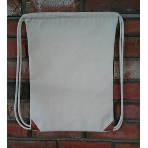 "13.5"" x 18"" Cotton Canvas Cinch Bag"