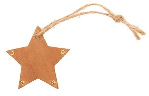 Custom Star Ornament or Label with Twine Tie