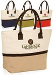 Custom Two Tone Jute Tote Bags