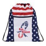 Custom Patriotic Drawstring bag