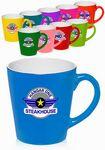 Custom 12 oz Two Tone Bright Latte Mugs