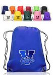 Custom 14W x 17H in. Non-Woven Drawstring Backpacks